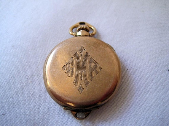 Antique 10kt Solid Gold Elgin Pocket Watch - 1919 for repair