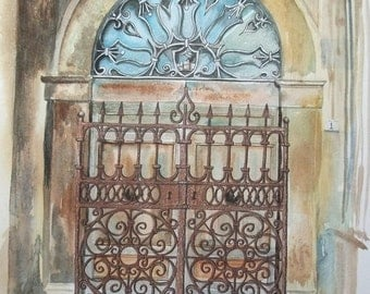 Italian Doorway - Original Painting