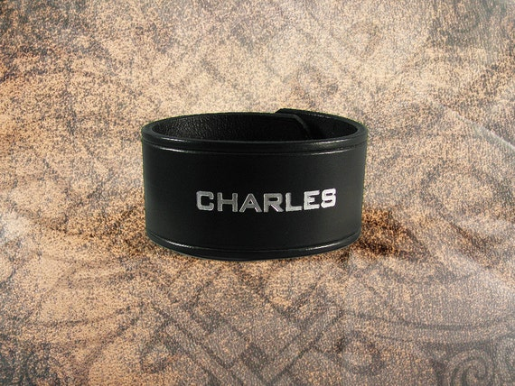 Personalized Leather Cuff -  The NAME Cuff - Personalized by you