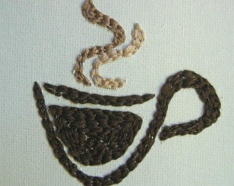 Eye Heart Stitchery - I Love Coffee
