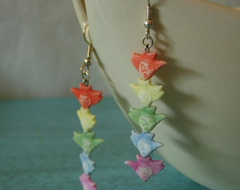 Dangling Pale Rainbow Angel Fish