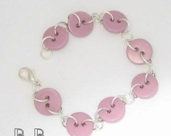 Sweet Lilac Button Bracelet