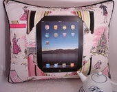 iPad Pillow with Scenes of Tres Chic Paris
