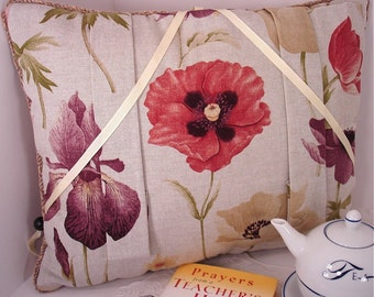 Icelandic Poppy Reading Pillow to Cradle your Reading Book
