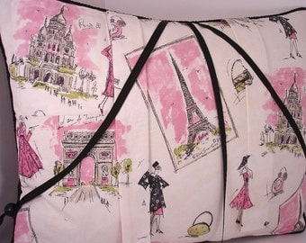 Paris Tres Chic Reading Pillow to Cradle your Reading Book