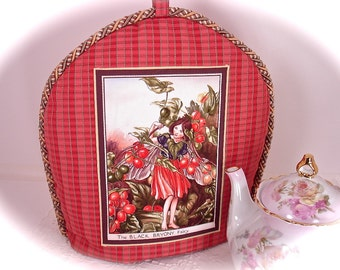 The Black Bryony Fairy Insulated Tea Cozy to Keep Your Pot of Tea Hot  % One of A Kind