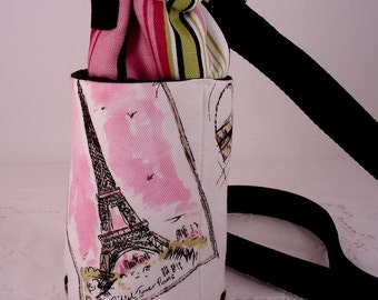 Tres Chic Paris Insulated Water Bottle Carrier, Small for Cold or Hot Use