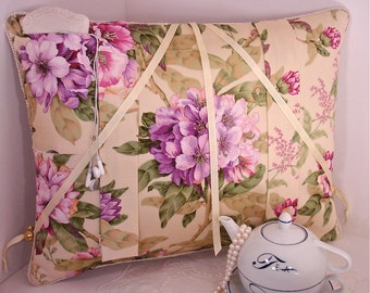 Shabby Chic Lavender Oleander Reading Pillow to Cuddle wih your Favorite Book