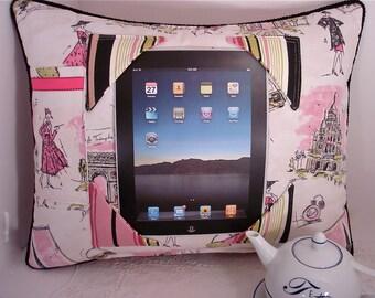 iPad Pillow with Scenes of Tres Chic Paris