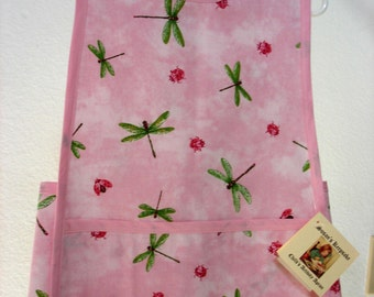 Child's Apron for gardening, crafting, cooking with Mom - Dragon Flys and Lady Bugs Fly Away