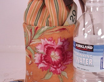 Cinnamon Girl Water or Beverage Bottle Carrier Small and Insulated for Cold or Heat