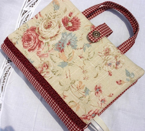 Fabric Book Covers With Handles : Fabric bible and book cover