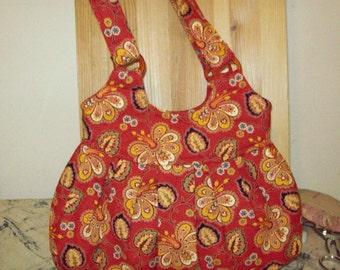 Floral cotton handbag  purse