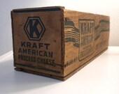 Vintage Wooden Kraft Cheese Box