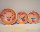 Vintage Painted Wooden Bowls