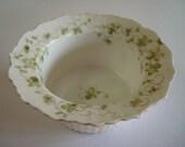 Antique Altrohla Austria Porcelain Custard Ruffle Dish Floral