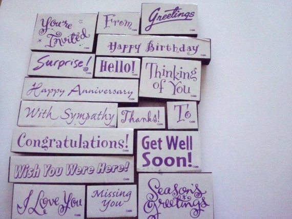Occasion Rubber Stamps