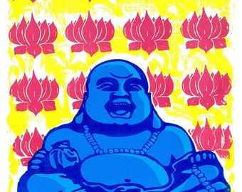 Laughing Buddha silkscreen poster