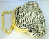 Whiting and Davis Alumesh / Bakelite beaded bag 1940
