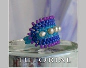 Beading Tutorial : Grace Ring Tutorial - Instant Download