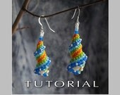 Beading Tutorial : Cellini Spiral Shell Earrings Tutorial - Instant Download