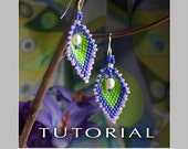 Beading Tutorial : Russian Leaf Pearl Earrings Tutorial - Instant Download