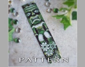 Peyote Beading Pattern : Tiki God Bracelet Cuff - Instant Download