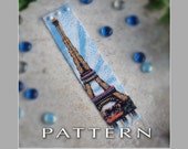 Peyote Beading Pattern : Eiffel Tower Bracelet Cuff - Instant Download