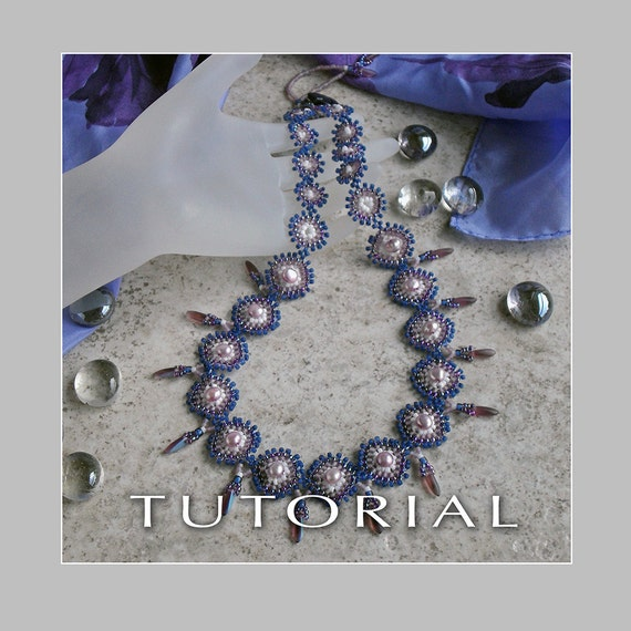 Beading Tutorial : Sweet Pearl Necklace Tutorial - Instant Download
