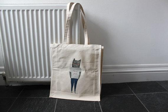 Taco Kitty canvas tote bag
