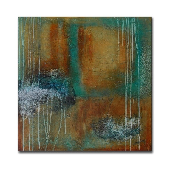 RESERVED - Large ORIGINAL Large Abstract Contemporary Textured Modern Colorful Painting by Andrada - 30x30 -Certificate of Authenticity