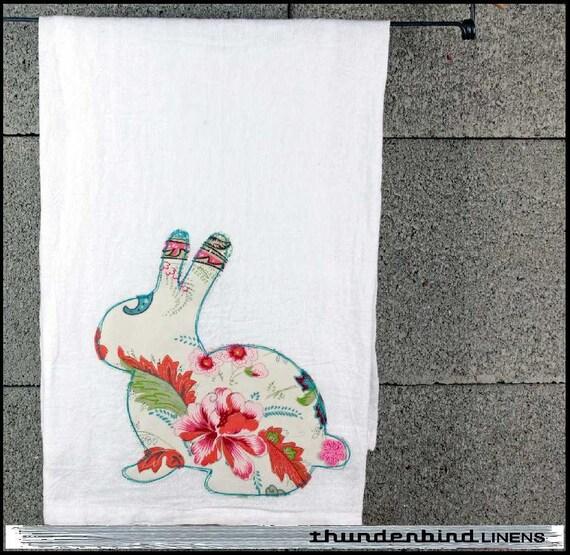 """thunderbird LINENS: """"hoppin' to it"""" dish towel"""