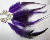 Bohemian Feather Necklace - Purple