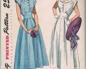 Vintage 1940s Simplicity Sundress Pattern 2506