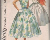 Vintage 1950s Simplicity Sundress Pattern 2105 Full Skirt