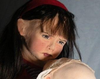 Dark Alice and Piggy, a OOAK Soft Sculpture