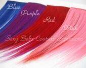 Bang Fringe Piece Choose one Color Blue, Purple, Red or Pink