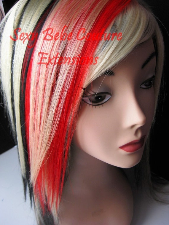 Red And Blonde Hair Extensions 97