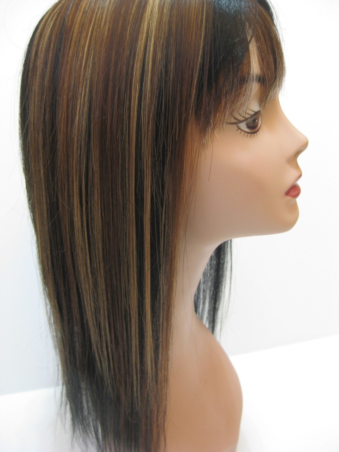 Light Brown Hair With Caramel Lowlights Caramel and brown clip in hair