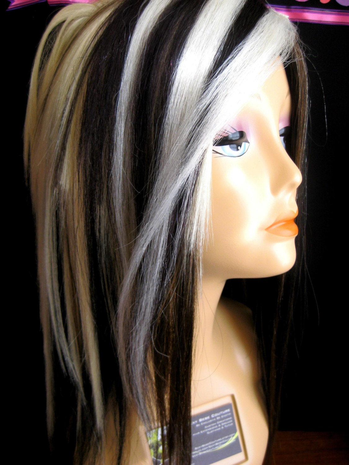 Blonde Hair And Black Streaks 19