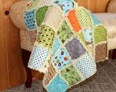 Fox Trails Baby Rag Quilt
