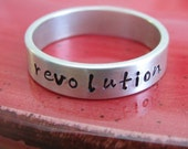 custom thick sterling silver ring - hand stamped with your customization