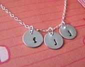 custom tiny round charm necklace