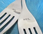 custom wedding cake fork set - personalize for a great gift and wedding keepsake