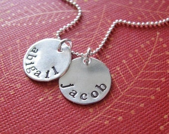 personalized double mini name necklace