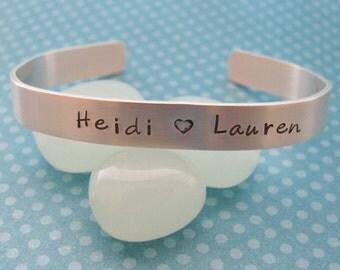 custom sterling silver baby bracelet