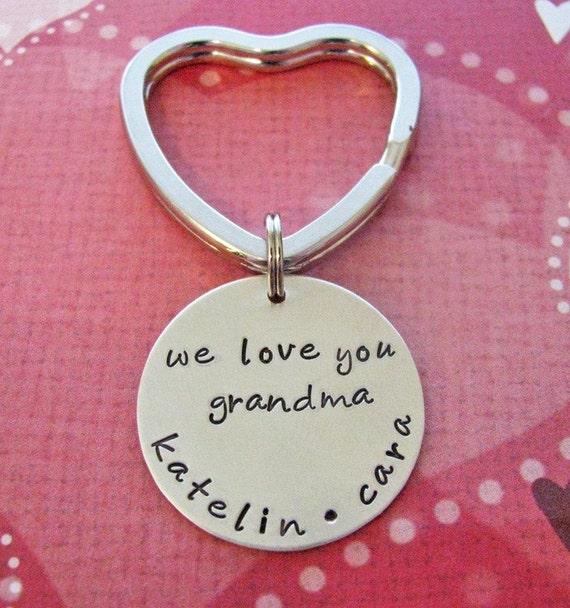 custom silver heart key chain