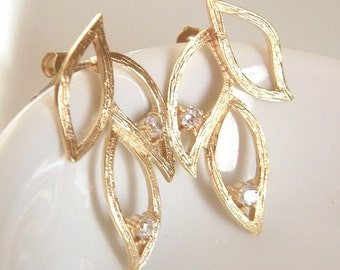 Branch Gold Earrings -  Millie Earrings Spring Wedding Collection