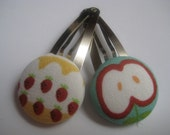 Strawberries on Icing and Apple Snap Clips (Set of 2)