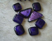Deluxe Purple Mix Fused Dichroic Glass Cabochons 090908c101